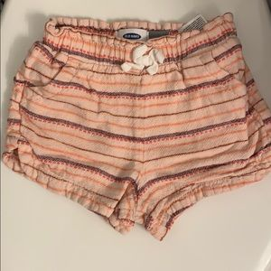 Old navy linen striped shorts size 2T